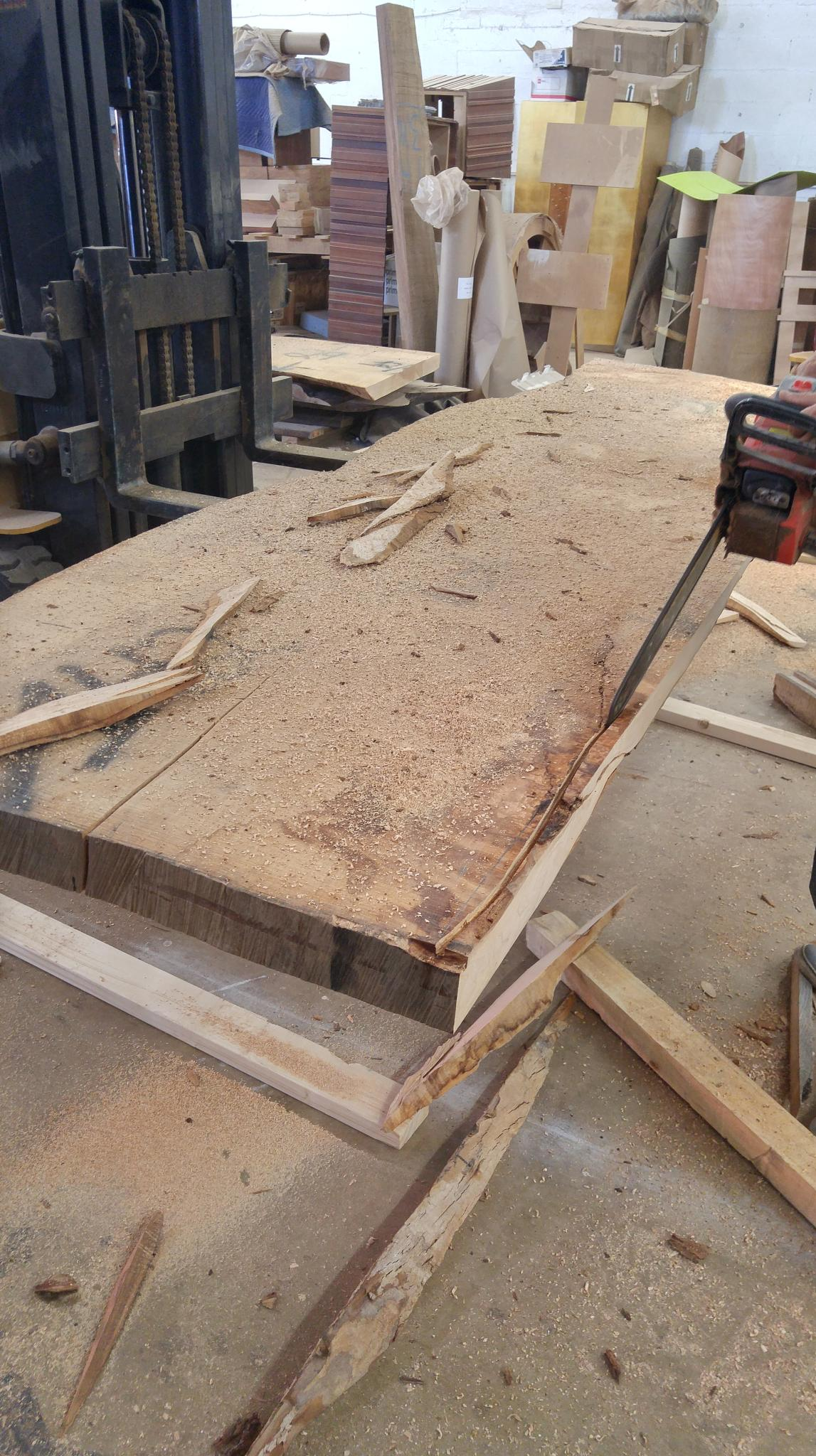 In Progress: How To Bookmatch a Custom Dining Table