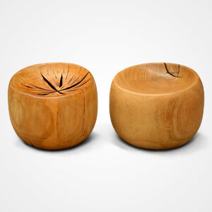 Wood Stools and Ottomans